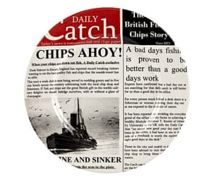 Travel - cool kit gallery: Fish & Chips dinner plate