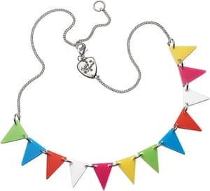 Travel - cool kit gallery: Multicoloured bunting necklace
