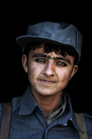 Sean Smith Frontlines: A young Afghan police recruit, Gereshk, Helmand, 2006