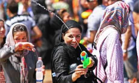 Water Gun Festival in Tehran