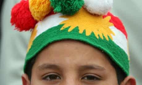 kurdish boy celebrates new year