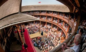 The Globe theatre hosting a performance of Henry VIII