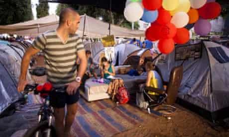 A Tel Aviv 'tent city'