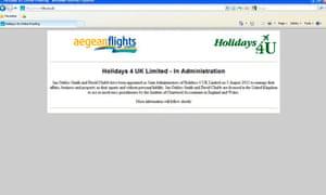 Holidays 4 UK goes into administration website