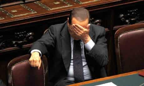 The raids took place on Wednesday as Silvio Berlusconi addressed parliament