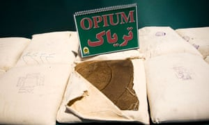 Confiscated opium