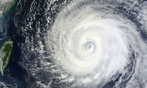 A picture from Nasa's Terra satellite shows typhoon Muifa
