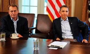 John Boehner and Barack Obama White house July 23 2011