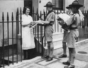 You can help your country: Boy scouts collecting waste paper during the second World War