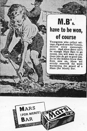 You can help your country: A mars bar advert from the second World War