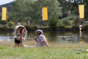Big Chill: Festival goers relax by the lake at The Big Chill Festival