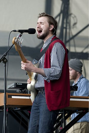 Big Chill: Hayden Thorpe of the Wild Beasts performs at The Big Chill festival