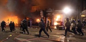 Tottenham riots: Riot police patrol the streets