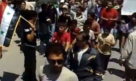 Syrian students demonstrate after news of further government crackdowns emerged