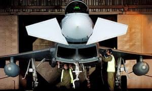 Typhoon fighter jet ready