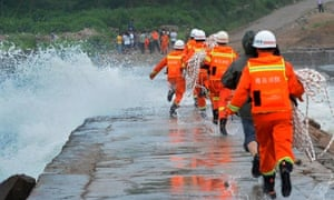 Preparations for Typhoon Muifa to hit land, China - 07 Aug 2011