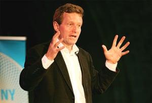 Morgan Kelly delivering his lecture in Kilkenny