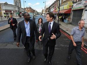 London Riots: Nick Clegg visits Tottenham after the riots