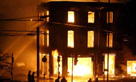 House of Reeves furniture store on fire in Croydon on Monday August 8, 2011