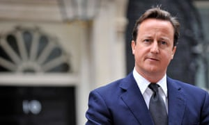 David Cameron outside No 10 on 9 August 2011.