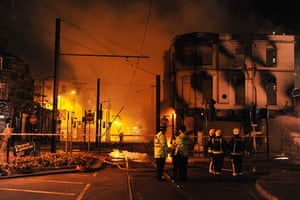 London riots day 3: The House of Reeves furniture store on fire in Croydon