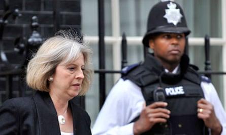 Theresa May policeman