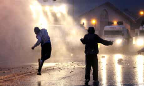 Water cannon in Northern Ireland