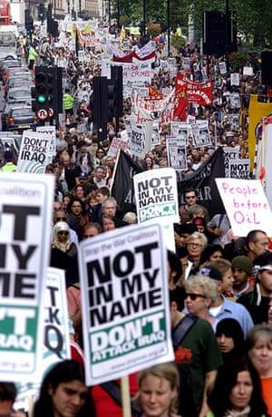 10 best: Anti-war demonstration in central London