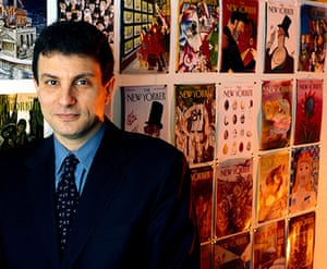10 best: Editor David Remnick Poses For A Portrait This Year 2000 Against A Back