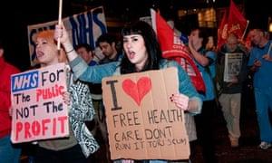 demo against NHS cuts