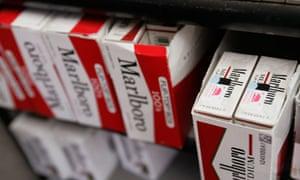 Marlboro cigarette packets