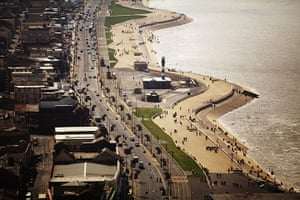 Blackpool Tower: A view of Blackpool sea front from the newly reopened Blackpool Tower