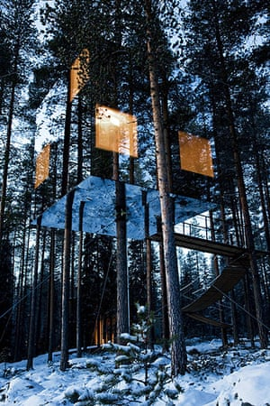 Scandinavian cabins: Treehotel, Boreal forest, Mirrorcube