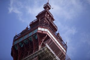 Blackpool Tower: The 500 feet high skywalk at the top of the tower