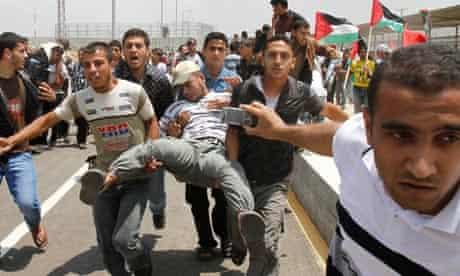 wounded palestinian gaza