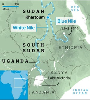 Source of the Nile map