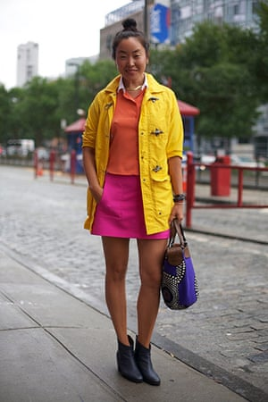 street style in new york: Street style at New York fashion week