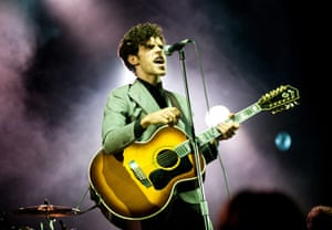 Bestival day 3: Charlie Fink of Noah and the Whale performs on the main stage