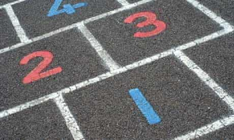 Numbers on a hopscotch grid