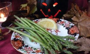 British autumn asparagus