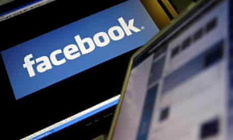 facebook logo on computer screen