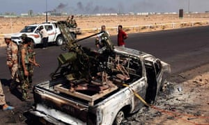 Truck belonging to pro-Gaddafi forces