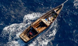 Boat towed by Japanese coastguard