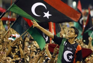 Tripoli celebration rally: Revolutionary supporters