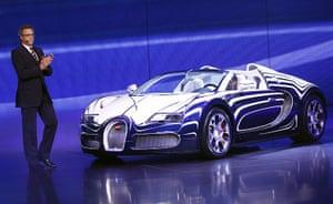 Frankfurt motor show: Wolfgang Duerheimer President of Bugatti with the new Veyron L'Or Blanc