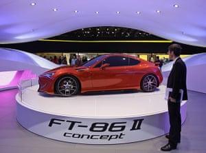 Frankfurt motor show: The Toyota Concept car FT-86 II on display