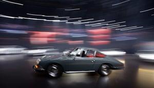 Frankfurt motor show: A model of Porsche's first version of the 911 Carrera sports car