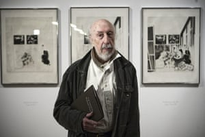 Richard Hamilton: Richard Hamilton with drawings dedicated to Picasso's Meninas