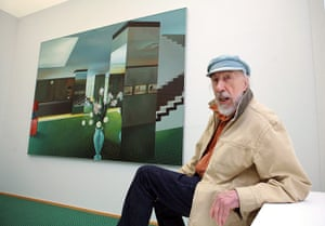 Richard Hamilton: Richard Hamilton in his exhibition 'virtuelle Raeume' ('virtual rooms')