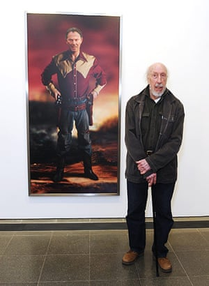 Richard Hamilton: Richard Hamilton stands in front of Shock & Awe